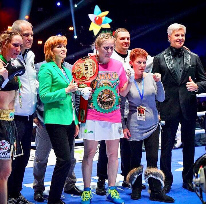 WBC Silver World light middelweight Champion & LBF World light middleweight Champion Inna Sagaydakovskaya